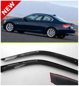 For BMW 3 Coupe E92 Window Visor Rain Guard Shade Wind Sun 2006-2013