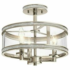 "Kichler Angelica 13"" Polished Nickel Modern/Contemporary incandescent Semi-Flu"