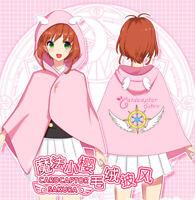 Anime Card Captor Sakura Unisex Cosplay Lolita Gothic Cloak Kawaii blanket#10621