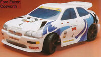 Carrozzeria RC 1/8 Ford Escort Coswort + Alettone RALLY spess 1 mm