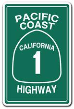 PACIFIC COAST HIGHWAY CALIFORNIA 1 Novelty Sign road freeway cali street gift