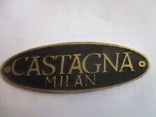 TARGHETTA Id-Plate Castagna MILANO SCUDO s35 ALFA LANCIA Delage Delahaye
