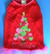 DOG CLOTHES/HOLIDAY/RESCUED/HEART CHRISTMAS TREE/TUTU/MEDIUM/LARGE M/L