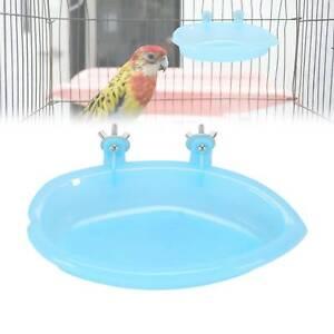 CAGE MOUNTED SMALL BIRD PARROT BUDGIE PET BATH BASIN SHOWER BATH TUB KIT