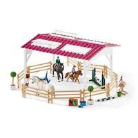 Schleich Horse Club 42389 Reitschule mit Reiterinnen, Pferden und Zubehör