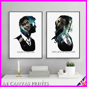 Harry Potter Character Glossy Poster Print Hermione Snape Dumbledore Wall Art UK