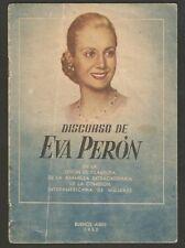 Eva Peron Evita Book Speach 1952