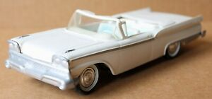 Vintage 1959 Ford Fairlane  500 White Convertible Friction Car