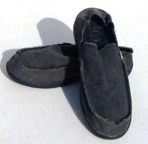 CROCS Canvas Slip On Shoes Men's Size 10 US, 43.5 EUR (Fast Shipping) EUC
