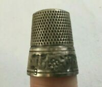 Antique SIMON BROTHERS Sterling Silver Flower Band Thimble Marked Very Old