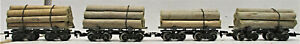 RIVAROSSI LOG CARS (NO BOX) HO SCALE
