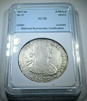 1811 AU Spanish Silver 8 Reales Eight Real Old Antique Colonial Era Dollar Coin