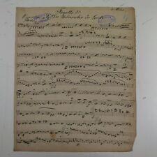 C M V Weber Der beherrscher der Geister fagotto 2 partie, antique musique manuscrit