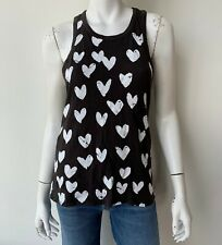 Chaser Heart Printed Tank Black Size Small Top