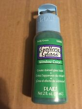 NEW/SEALED PLAID GALLERY GLASS WINDOW COLOR - 2 OZ - KELLY GREEN 16008