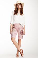 NEW Da-Nang Embroidered Silk Bermuda Shorts Passion Fruit XS X-SMALL SKG6012M050