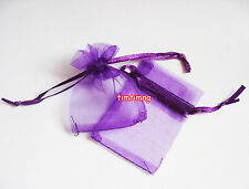 50 / 100pcs Organza Bags Jewellry Gift Pouch Wedding Favour Drawstring Mini Size