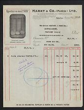 "PARIS (XI°) USINE d'USTENSILES de CUISINE EGOUTTOIR Email KER ""MARKT & Co"" 1936"
