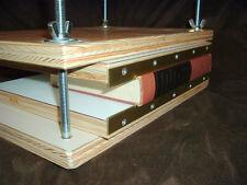 Brass edged press book boards for bookbinding pressboards binding repair.3530