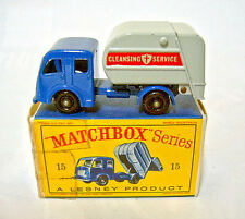 Matchbox No.15C Refuse Truck rare early knobby wheels near mint / boxed