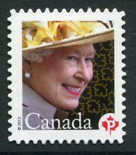 """Weeda Canada 2617i VF NH Die cut 2013 Elizabeth II """"P"""", from Annual Collection"""