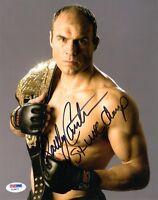 RANDY COUTURE SIGNED AUTOGRAPHED 8x10 PHOTO + 5 x UFC CHAMP MMA LEGEND PSA/DNA