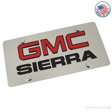 GMC Laser-Cut Logo & Sierra Name On Polished License Plate