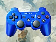 🍀 Metallic Blauer Sony DualShock 3 wireless Controller, Rar, Playstation 3 PS3