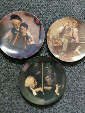 3 Norman Rockwell Plates Knowles