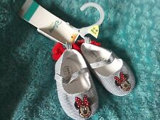 BNWT Baby Girls Minnie Mouse Pram Shoes 12-18M