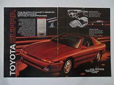 1986 Print Ad Toyota Supra Car Automobile ~ The Supra Dynasty Begins