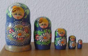 Russische Matrjoschka. Matroschka! Babuschka. Matrioschka. 5 Holz-Puppen!