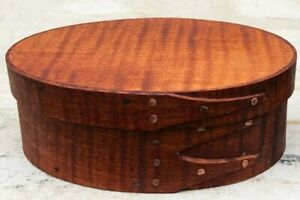 TIGER MAPLE SHAKER OVAL BOX---SIZE # 1