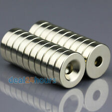 20pcs N50 Grade Disc Neodymium Ring Magnets 20mm x 5mm Hole 5mm Rare Earth Neo