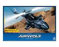 Aoshima 1/48 Airwolf Helicopter with Extra Clear Body Shell Plastic Model Kit #