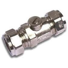 NEW - WESTCO 15mm CP CXC ISOLATING VALVE CHROME (PACK OF 10)