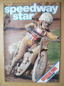 SPEEDWAY STAR MAGAZINE- Overseas FINAL Preview, 11 July 1981, Vol.30 No.17