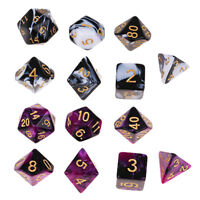 14Pcs Polyhedral Dice Board Game Toy Gift for Dungeons & Dragons