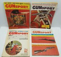 Vtg Gun Sport Magazine Lot of 4 1960 Rifles Firearms Confederate Union Collector