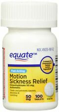Generic Dramamine Equate Motion Sickness Dimenhydrinate 50 mg, 100 tablets