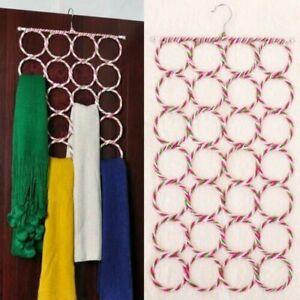Multi Scarf Hanger Circular Wardrobe Space Organiser Storage Ties Belt Scarves