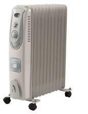 Radiador relleno de aceite calentador eléctrico 2500W 11 Aletas De Lujo Termostato ajustable que