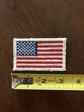 American Flag Embroidered Iron-on Patch White Border U.S.A United States