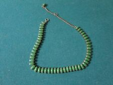 FINE JEWELRY NECKLACE JADE BEADS AND SILVER, [a*3]