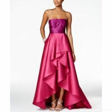 Adrianna Papell Strapless Two Tone Dress with Ruffled Ball Skirt .  ( Size 2)