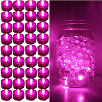 36 Pack PINK Submersible Waterproof Underwater Battery LED Tea Light~Wedding