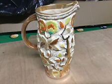 More details for 1960's h j wood pottery - indian tree pattern - hand painted large jug