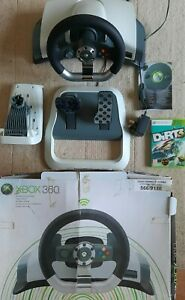 Official Microsoft Xbox 360 Wireless Racing Wheel+Pedals Force Feedback+Dirt 3