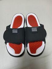 Air Jordan Hydro XI 11 Slides Sandals Bred White Mens Size 13 AA1336 006