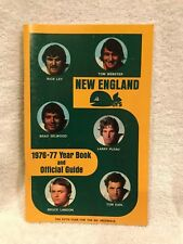 BEAUTIFUL New England (Hartford) Whalers 1976-77 WHA Yearbook/Media Guide, NICE!